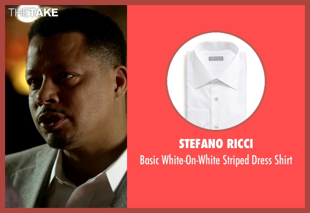 Stefano Ricci white shirt from Empire seen with Lucious Lyon (Terrence Howard )