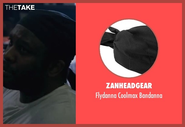 Zanheadgear black bandanna from Contraband seen with Lucky Johnson (Tarik )