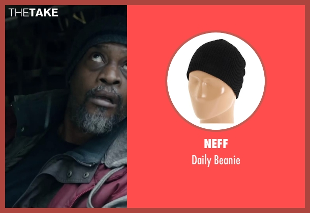 NEFF black beanie from Dawn of the Planet of the Apes seen with Lucky Johnson (Rationer)