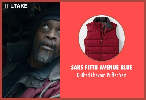 SAKS FIFTH AVENUE BLUE red vest from Dawn of the Planet of the Apes seen with Lucky Johnson (Rationer)