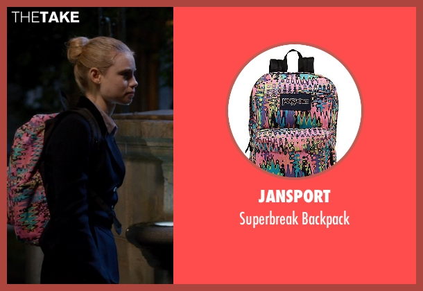 Jansport backpack from Vampire Academy seen with Lucy Fry (Lissa Dragomir)