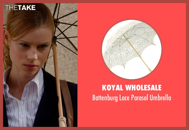 Koyal Wholesale brown umbrella from Vampire Academy seen with Lucy Fry (Lissa Dragomir)