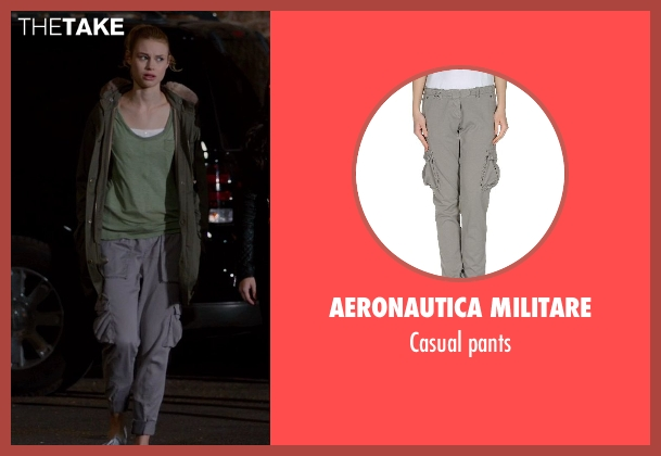 AERONAUTICA MILITARE gray pants from Vampire Academy seen with Lucy Fry (Lissa Dragomir)