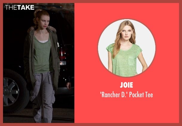 Joie green tee from Vampire Academy seen with Lucy Fry (Lissa Dragomir)