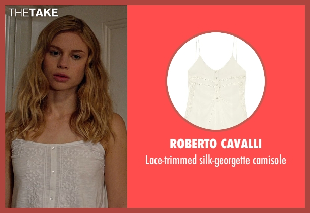 ROBERTO CAVALLI white camisole from Vampire Academy seen with Lucy Fry (Lissa Dragomir)
