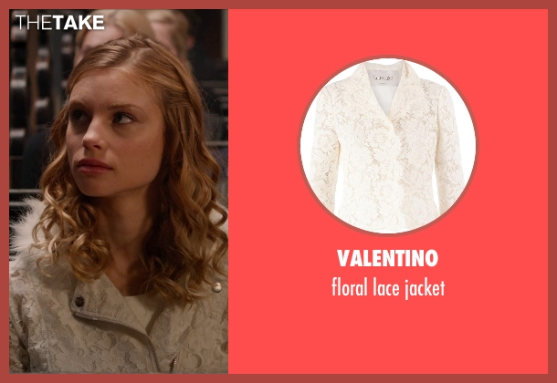VALENTINO white jacket from Vampire Academy seen with Lucy Fry (Lissa Dragomir)
