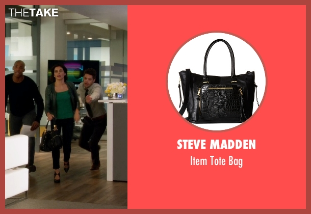 Steve Madden black bag from Supergirl seen with Lucy Lane (Jenna Dewan Tatum)