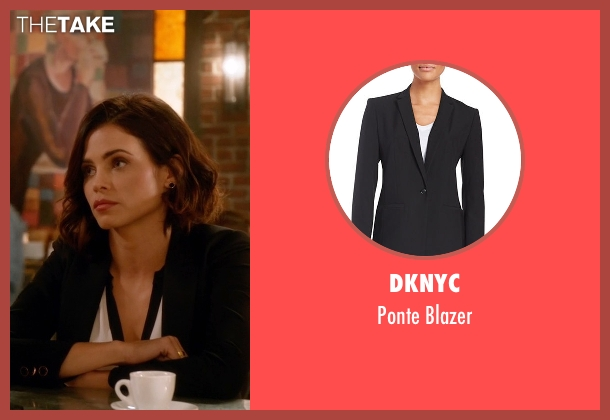 DKNYC black blazer from Supergirl seen with Lucy Lane (Jenna Dewan Tatum)