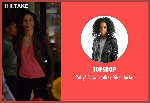 Topshop black jacket from Supergirl seen with Lucy Lane (Jenna Dewan Tatum)