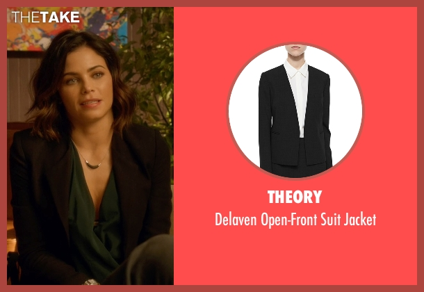 Theory black jacket from Supergirl seen with Lucy Lane (Jenna Dewan Tatum)