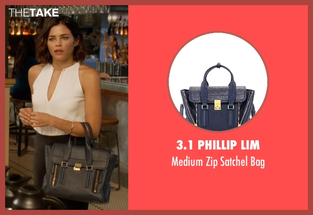 3.1 Phillip Lim blue bag from Supergirl seen with Lucy Lane (Jenna Dewan Tatum)