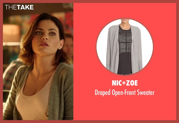 Nic+zoe gray sweater from Supergirl seen with Lucy Lane (Jenna Dewan Tatum)