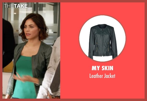 My Skin green jacket from Supergirl seen with Lucy Lane (Jenna Dewan Tatum)