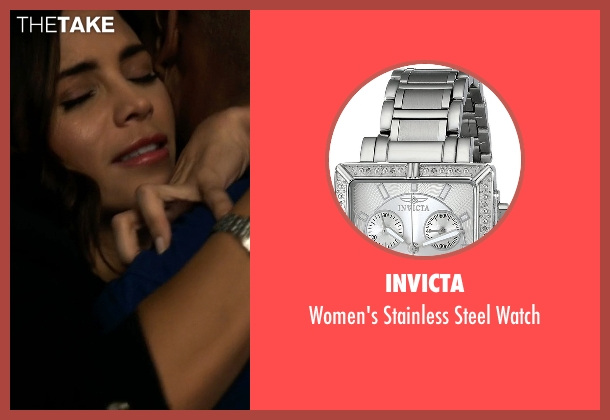 Invicta silver watch from Supergirl seen with Lucy Lane (Jenna Dewan Tatum)