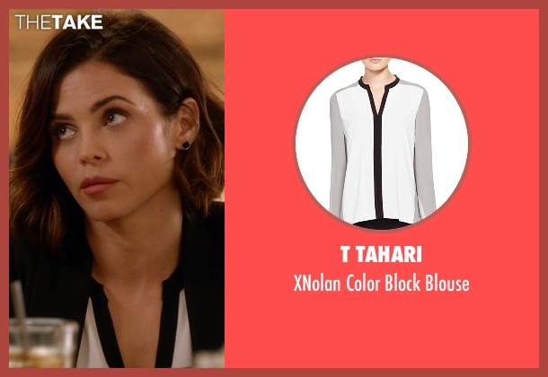 T Tahari white blouse from Supergirl seen with Lucy Lane (Jenna Dewan Tatum)