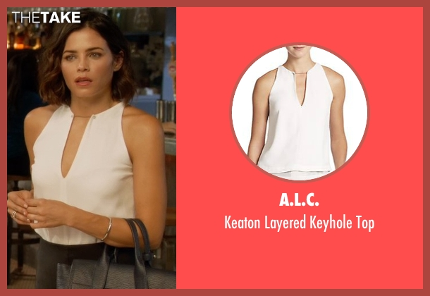 A.L.C. white top from Supergirl seen with Lucy Lane (Jenna Dewan Tatum)