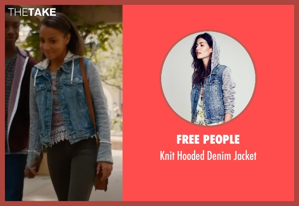 Free People blue jacket from Mistresses seen with Lucy Malloy (Corinne Massiah)