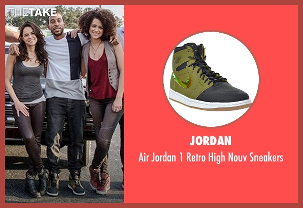 Jordan black sneakers from Fast 8 seen with Ludacris (Tej Parker)
