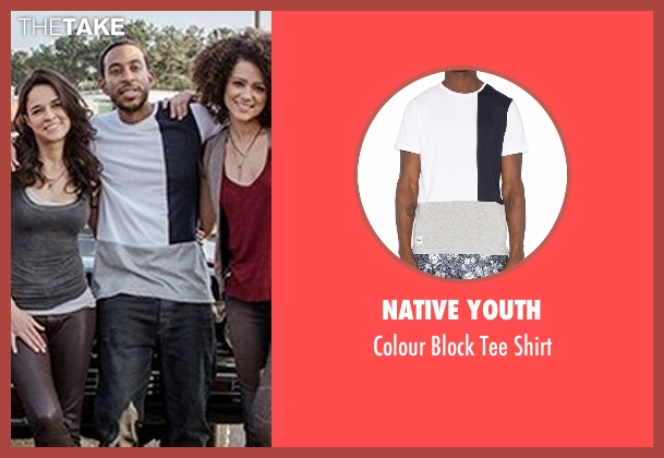 Native Youth white shirt from Fast 8 seen with Ludacris (Tej Parker)