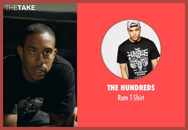 The Hundreds black t-shirt from Fast Five seen with Ludacris (Tej Parker)
