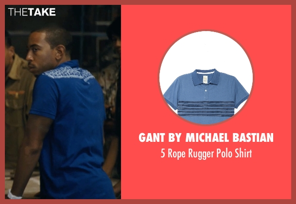 Gant by Michael Bastian blue shirt from Fast Five seen with Ludacris (Tej Parker)