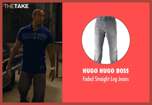 Hugo Hugo Boss gray jeans from Fast Five seen with Ludacris (Tej Parker)