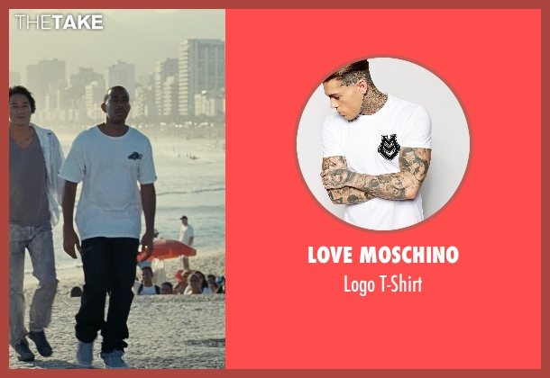 Love Moschino white t-shirt from Fast Five seen with Ludacris (Tej Parker)