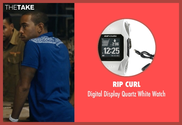 Rip Curl white watch from Fast Five seen with Ludacris (Tej Parker)