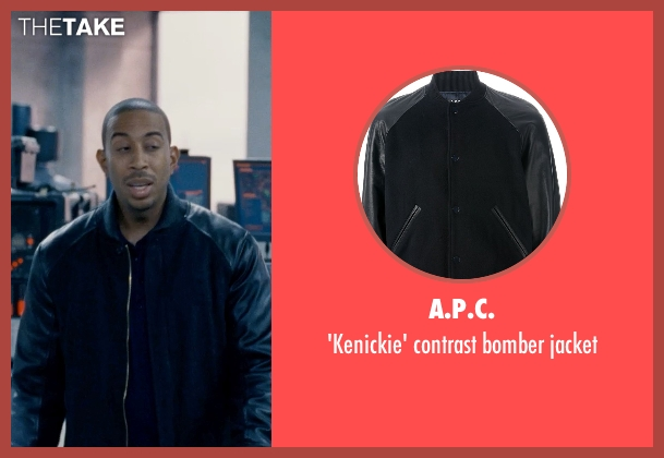 A.P.C. blue jacket from Fast & Furious 6 seen with Ludacris (Tej Parker)