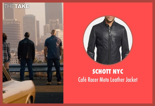 Schott NYC black jacket from Furious 7 seen with Ludacris (Tej Parker)