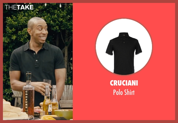 Cruciani black shirt from Furious 7 seen with Ludacris (Tej Parker)