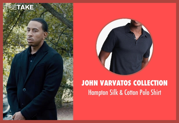 John Varvatos Collection black shirt from Furious 7 seen with Ludacris (Tej Parker)