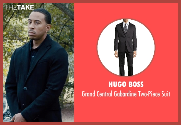 Hugo Boss black suit from Furious 7 seen with Ludacris (Tej Parker)