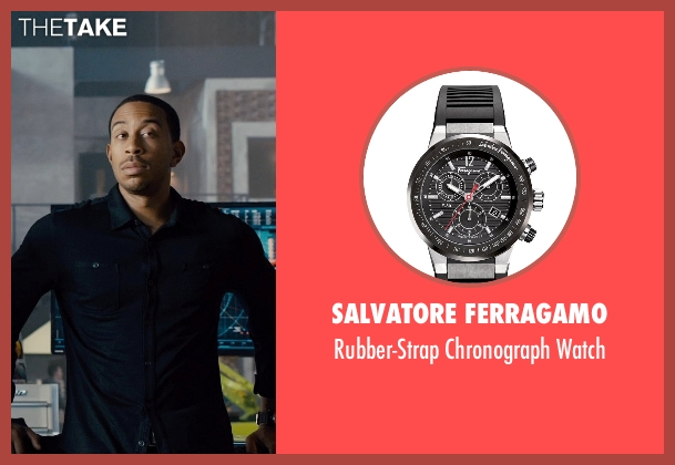 Salvatore Ferragamo	 black watch from Furious 7 seen with Ludacris (Tej Parker)