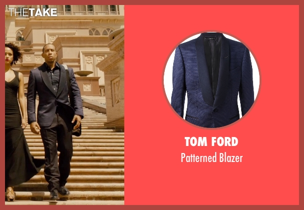 Tom Ford blue blazer from Furious 7 seen with Ludacris (Tej Parker)