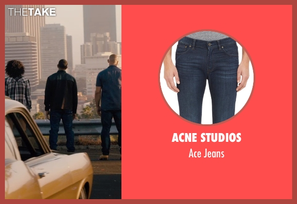 Acne Studios blue jeans from Furious 7 seen with Ludacris (Tej Parker)