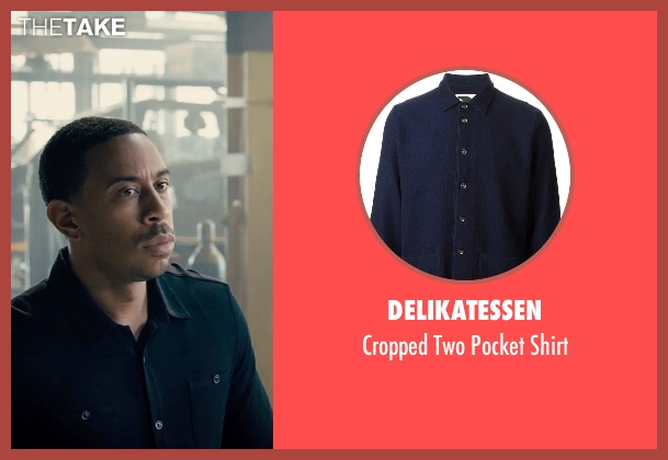 Delikatessen blue shirt from Furious 7 seen with Ludacris (Tej Parker)