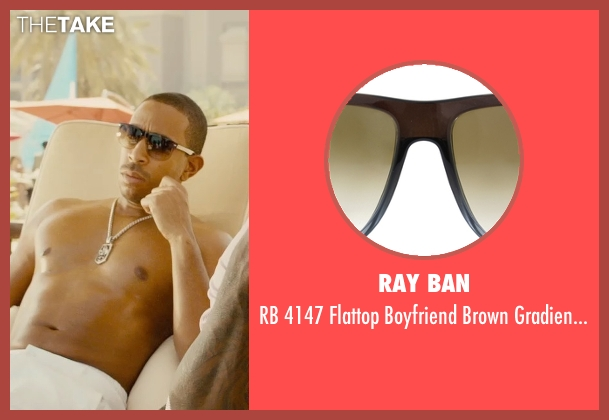 Ray Ban brown sunglasses from Furious 7 seen with Ludacris (Tej Parker)