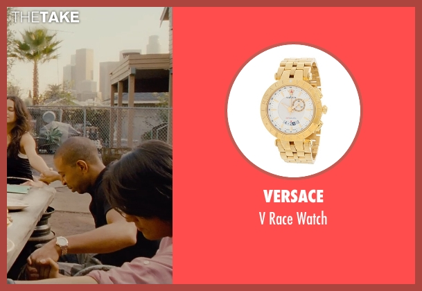 Versace gold watch from Furious 7 seen with Ludacris (Tej Parker)