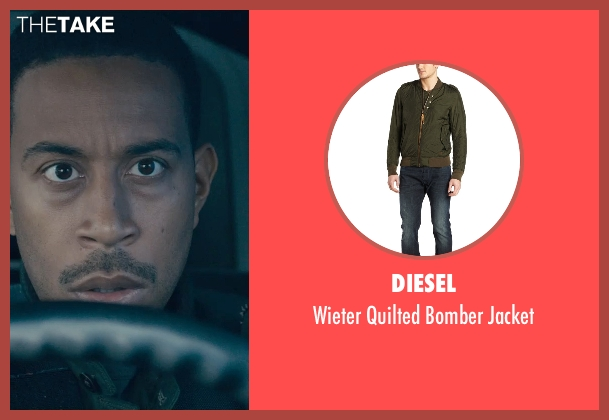 Diesel green jacket from Furious 7 seen with Ludacris (Tej Parker)