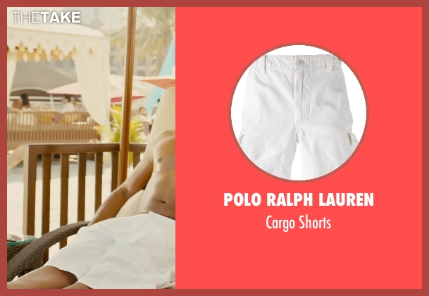 Polo Ralph Lauren white shorts from Furious 7 seen with Ludacris (Tej Parker)