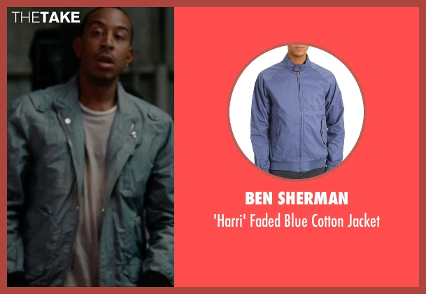 Ben Sherman blue jacket from No Strings Attached seen with Ludacris (Wallace)