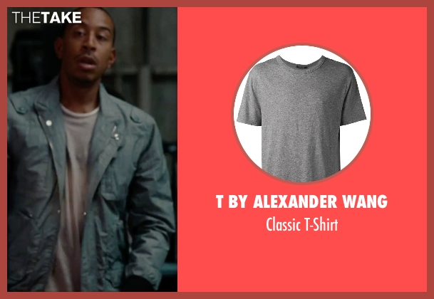 T by Alexander Wang gray t-shirt from No Strings Attached seen with Ludacris (Wallace)