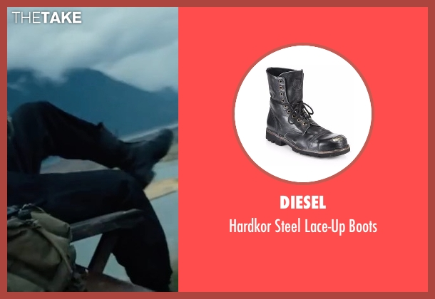 Diesel black boots from Power Rangers seen with Ludi Lin (Zack Taylor / Black Ranger)