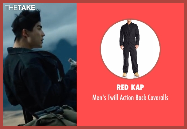 Red Kap black coveralls from Power Rangers seen with Ludi Lin (Zack Taylor / Black Ranger)