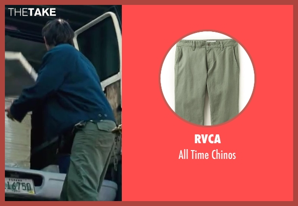 RVCA green chinos from Contraband seen with Lukas Haas (Danny Raymer)
