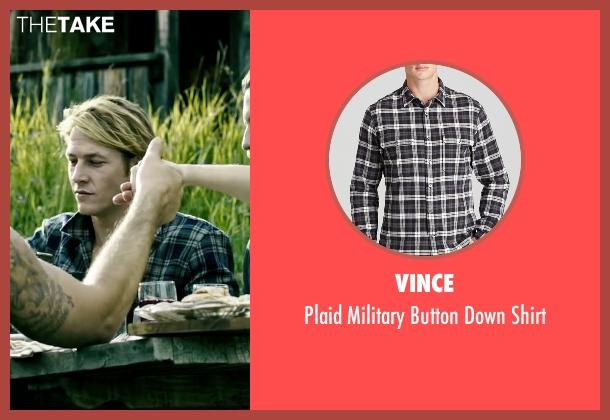 Vince black shirt from Point Break seen with Luke Bracey (Johnny Utah)