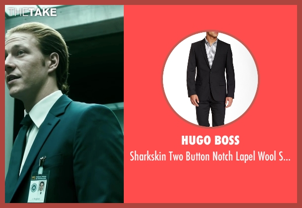 Hugo Boss black suit from Point Break seen with Luke Bracey (Johnny Utah)