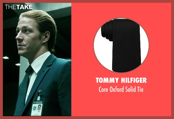 Tommy Hilfiger black tie from Point Break seen with Luke Bracey (Johnny Utah)