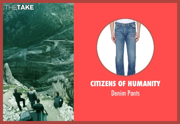 Citizens Of Humanity blue pants from Point Break seen with Luke Bracey (Johnny Utah)